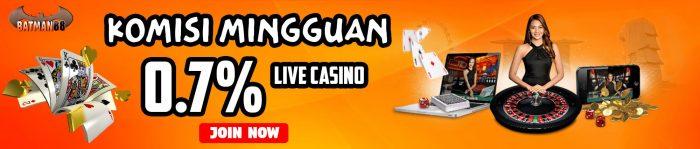Live casino 0.7%